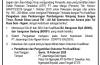 Pengumuman Lelang Terbatas Dengan Peserta Daftar Rekanan Terseleksi (DRT)